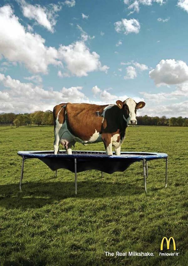 anuncio vaca mc donald